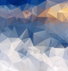 Blue snow mountains polygonal triangular pattern vector