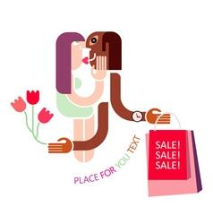 Couple shopping vector