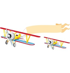 Plane with banner vector