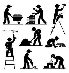 Builder people vector