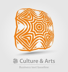 Culture and art business icon vector
