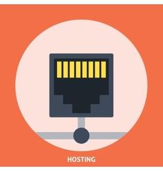 Hosting icon vector