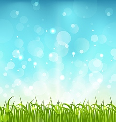 Summer nature background with grass vector