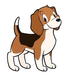 Cartoon beagle vector