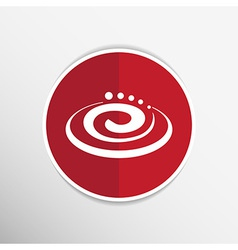 Hygienic cream top view cream particles icon vector