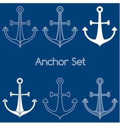 Set of anchor logo vector