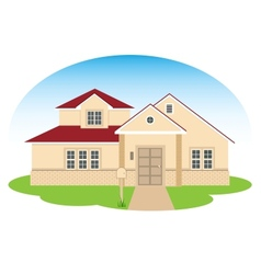 Fine family house vector