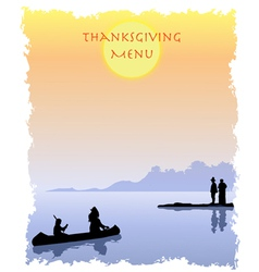 Thanksgiving menu vector