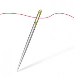 Sew needle thread vector