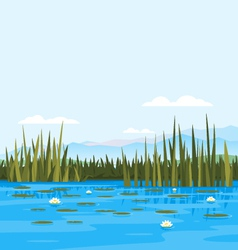 Water lily landscale vector