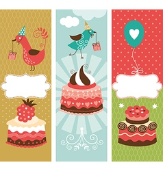Set of holiday vertical banners vector