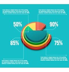 Business pie chart vector