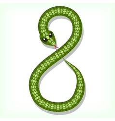 Snake font digit 8 vector