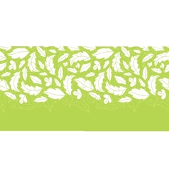 White on green leaves silhouettes horizontal vector