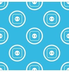 Socket sign blue pattern vector
