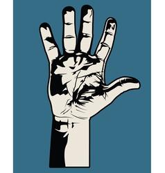 Open hand graphic vector