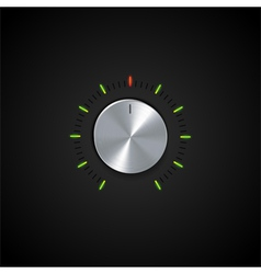 Dial and glowing indicator vector