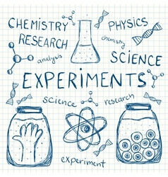 Sciientific experiments on squared paper vector