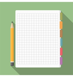 Notebook with pencil vector