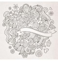 Easter sketch background vector