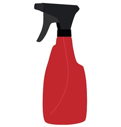 Red spray bottle vector