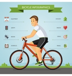 Cartoon man riding on a bike vector