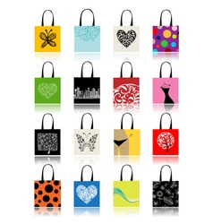 Shopping bags vector