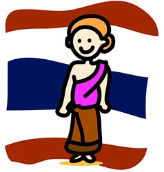 Asia people thai woman vector