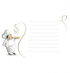 Chef with note padmenu vector