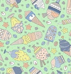 Ice cream pattern vector