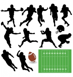 Football players vector