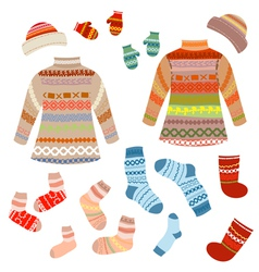 Knitted clothing vector