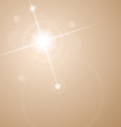 Abstract star with lenses flare vector