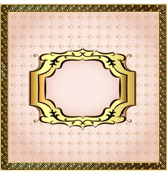 Pink background framed with pearls vector