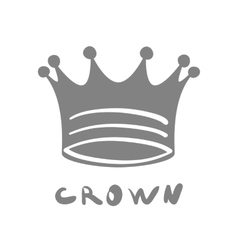 Crown icon king cute isolated success queen vector