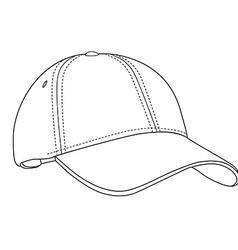 Baseball cap outlinme vector