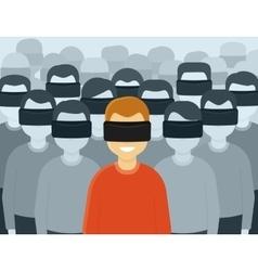 Virtual reality generation vector