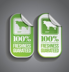 Food sticker beef vector