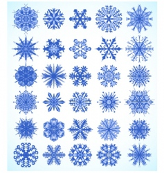 Snowflake design collection vector