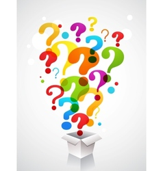 Box with question mark icons vector