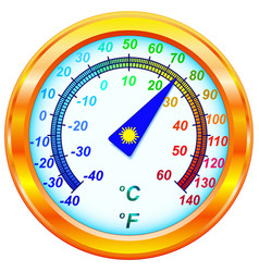 Dial thermometer vector