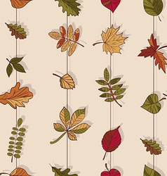 Autumn pattern pattern of autumn leaves red yellow vector