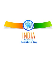 Indian republic day design isolated in white vector