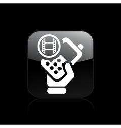Phone video icon vector