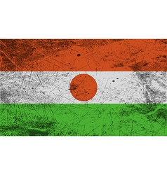 Flag of niger with old texture vector