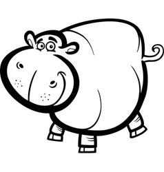 Hippo or hippopotamus for coloring book vector