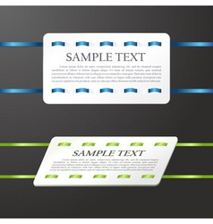 banner the stitched colour ribbon vector ca vector