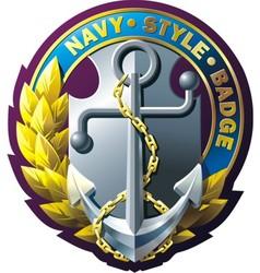 Marine style emblem vector