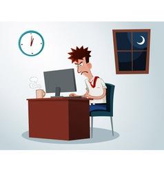 Working overtime vector