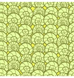 Retro shells pattern vector